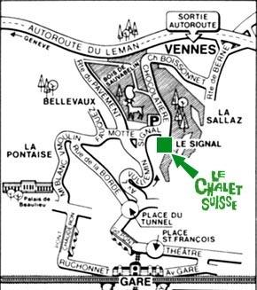 Plan d'accès au Chalet Suisse